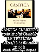 CANTICA en la Tertulia de Granada