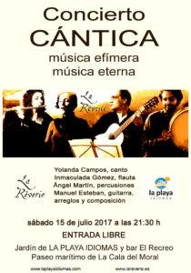 CANTICA Cuarteto · concierto del 15-7-17 en Escuela LA PLAYA