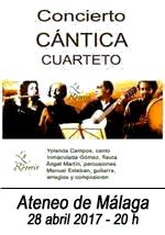 CANTICA Cuarteto en el Ateneo de Málaga